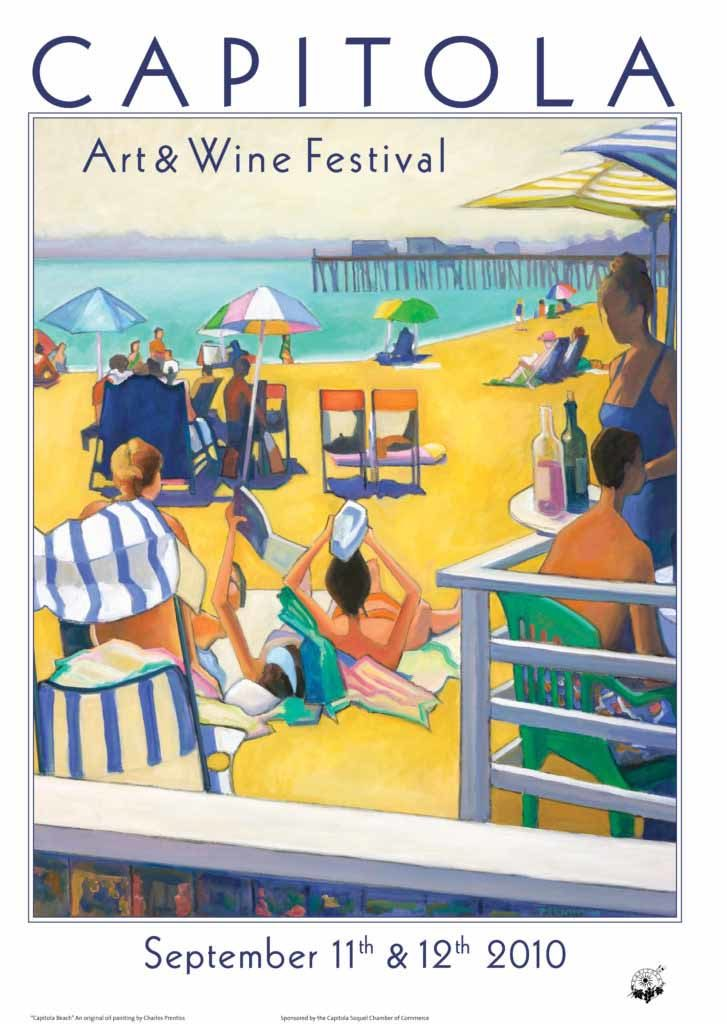 Beach Poster - Gallery Capitola CA