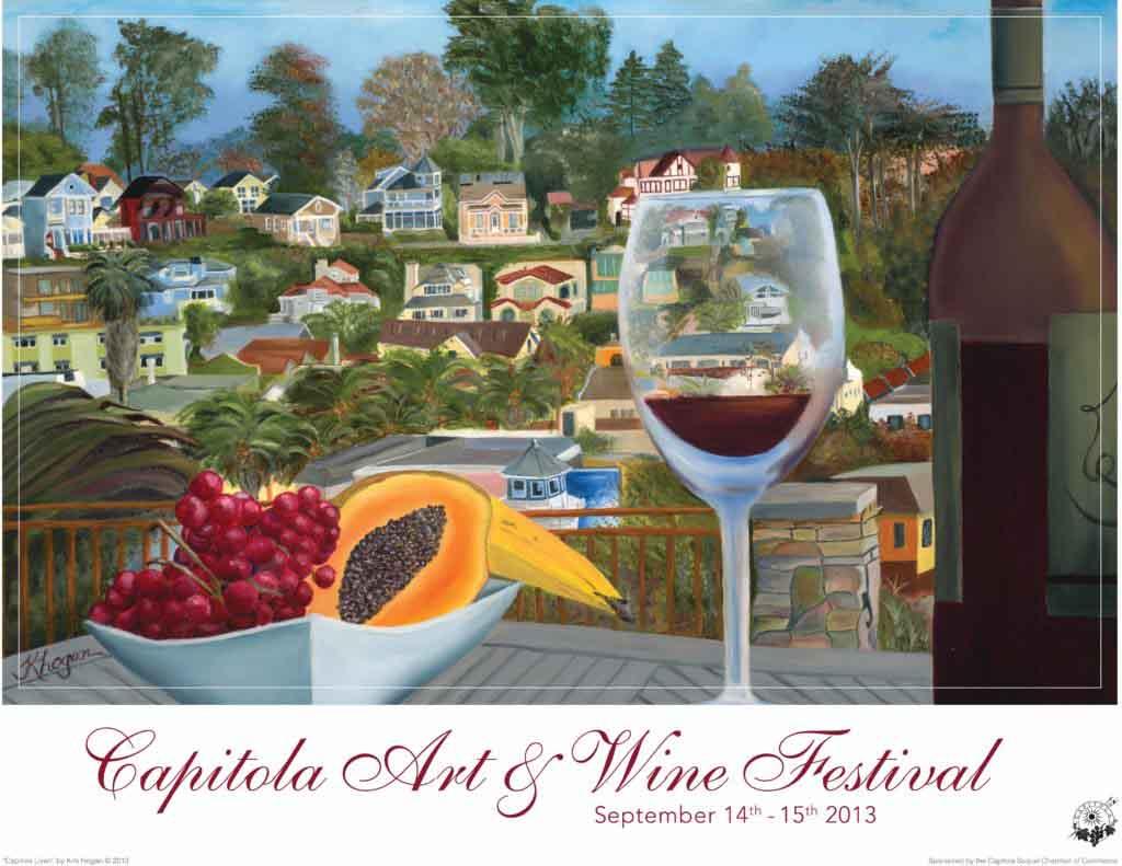 Capitola Art & Wine poster 2013 low res - Capitola, CA