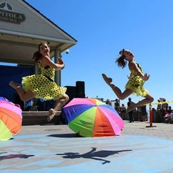 Jumping two Girls- Entertainment Capitola CA