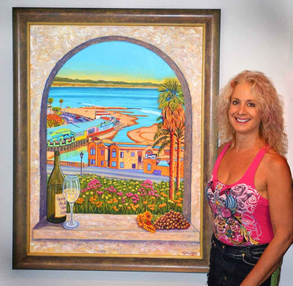 Lynn Jaye 2014 Capitola Art & Wine Festival poster art - Gallery Capitola CA